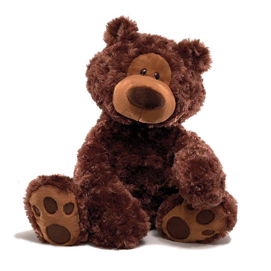 Gund Philbin Chocolate Brown Bear Stuffed Animal Toy - Large