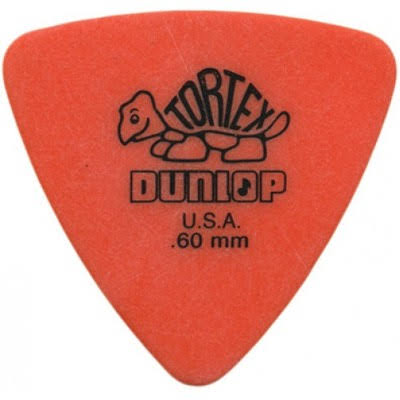Dunlop Tortex Triangle Guitar Picks - 0.60mm, 6 Picks