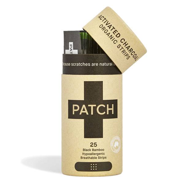 Patch Activated Charcoal Organic Adhesive Strips - 25pk