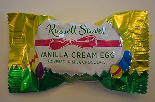 Russell Stover Vanilla Cream Egg Milk Chocolate - 1oz