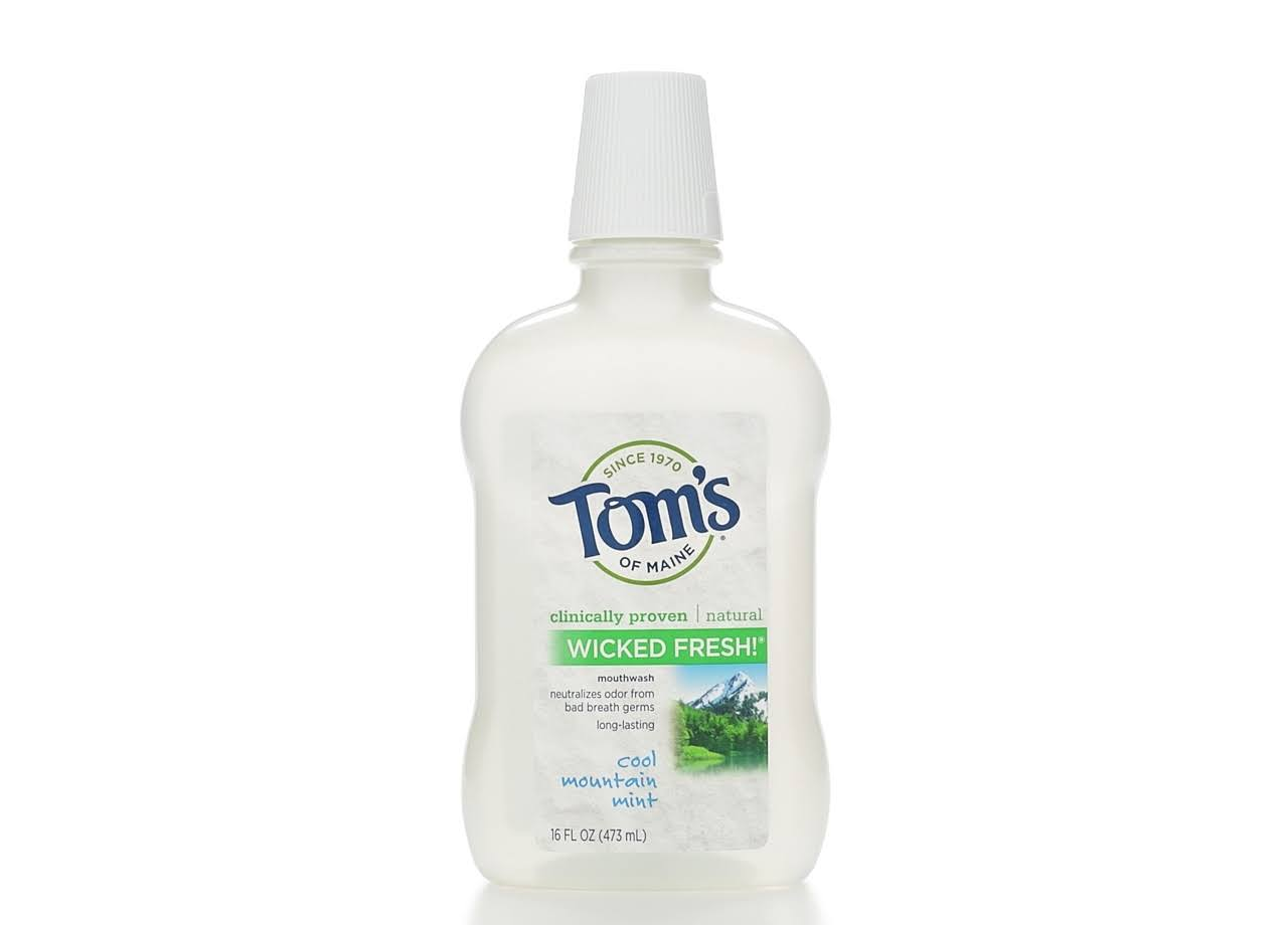 Tom's of Maine Wicked Fresh Mouthwash - Cool Mountain Mist, 473ml
