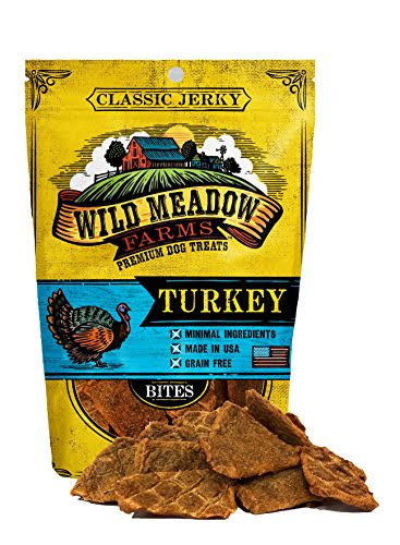 Wild Meadow Farms - Classic Turkey Bites - USA Made Soft Jerky Dog Treats