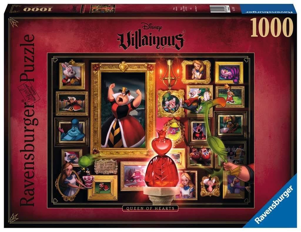 Ravensburger Disney Villainous Queen of Hearts Jigsaw Puzzle - 1000pcs