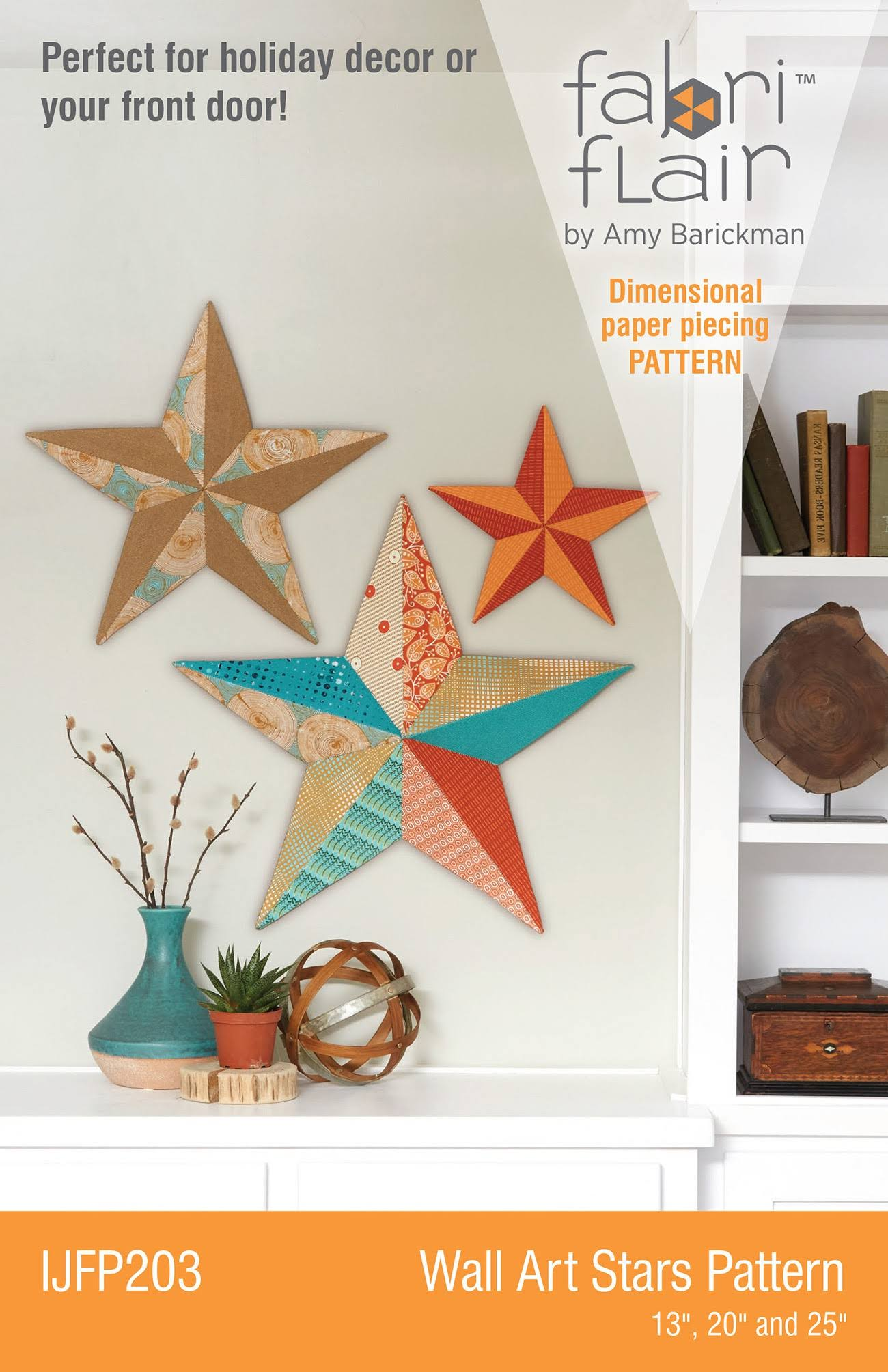 Indygo IJF203 Fabriflair Wall Art Pattern - Stars