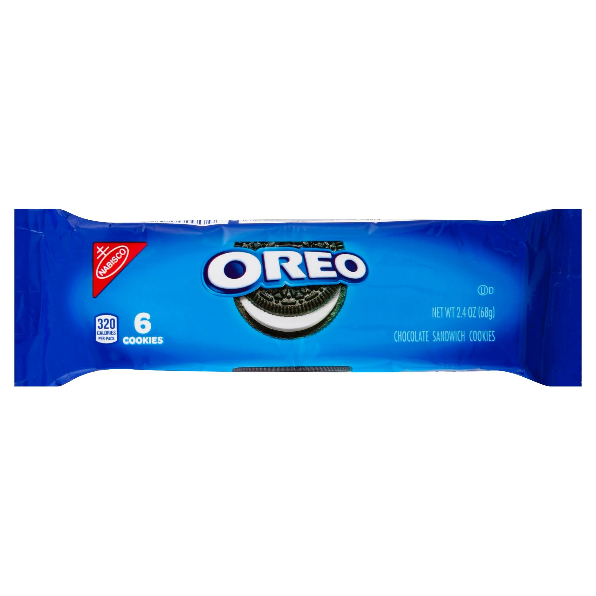 Oreo Cookies, Sandwich, Chocolate - 6 cookies, 2.4 oz