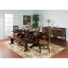 Macys Dining Room Furniture Collection by Sunny Designs Santa Fe Trestle Dining Table Hayneedle