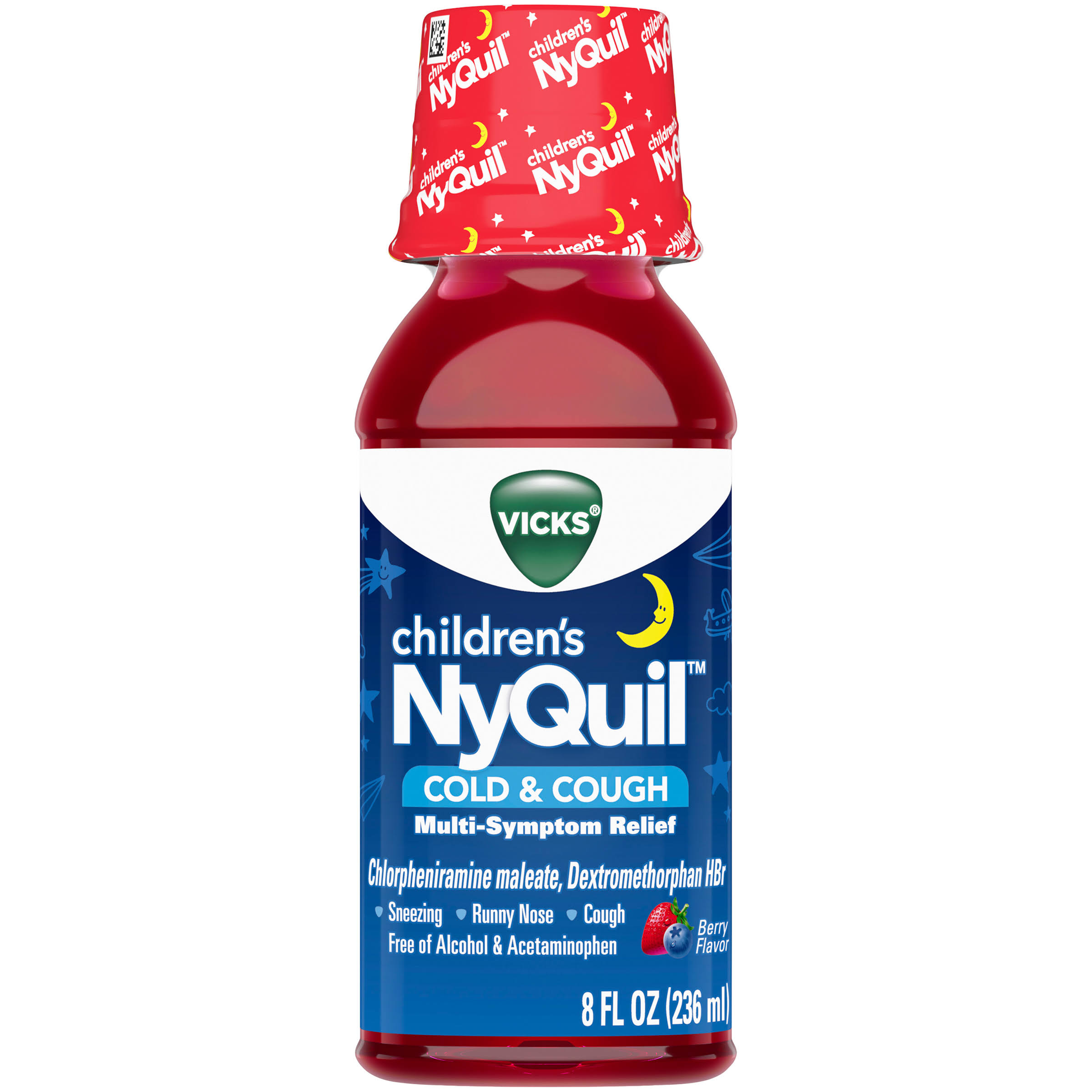 Vicks Children's NyQuil Cold & Cough Relief Medicine - 8oz, Cherry Flavor