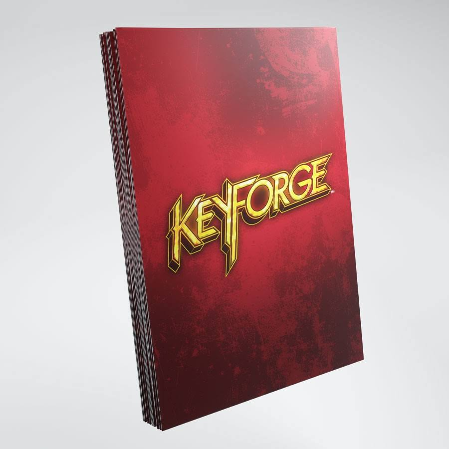 Gamegenic Keyforge Logo Sleeves - Red, 40ct