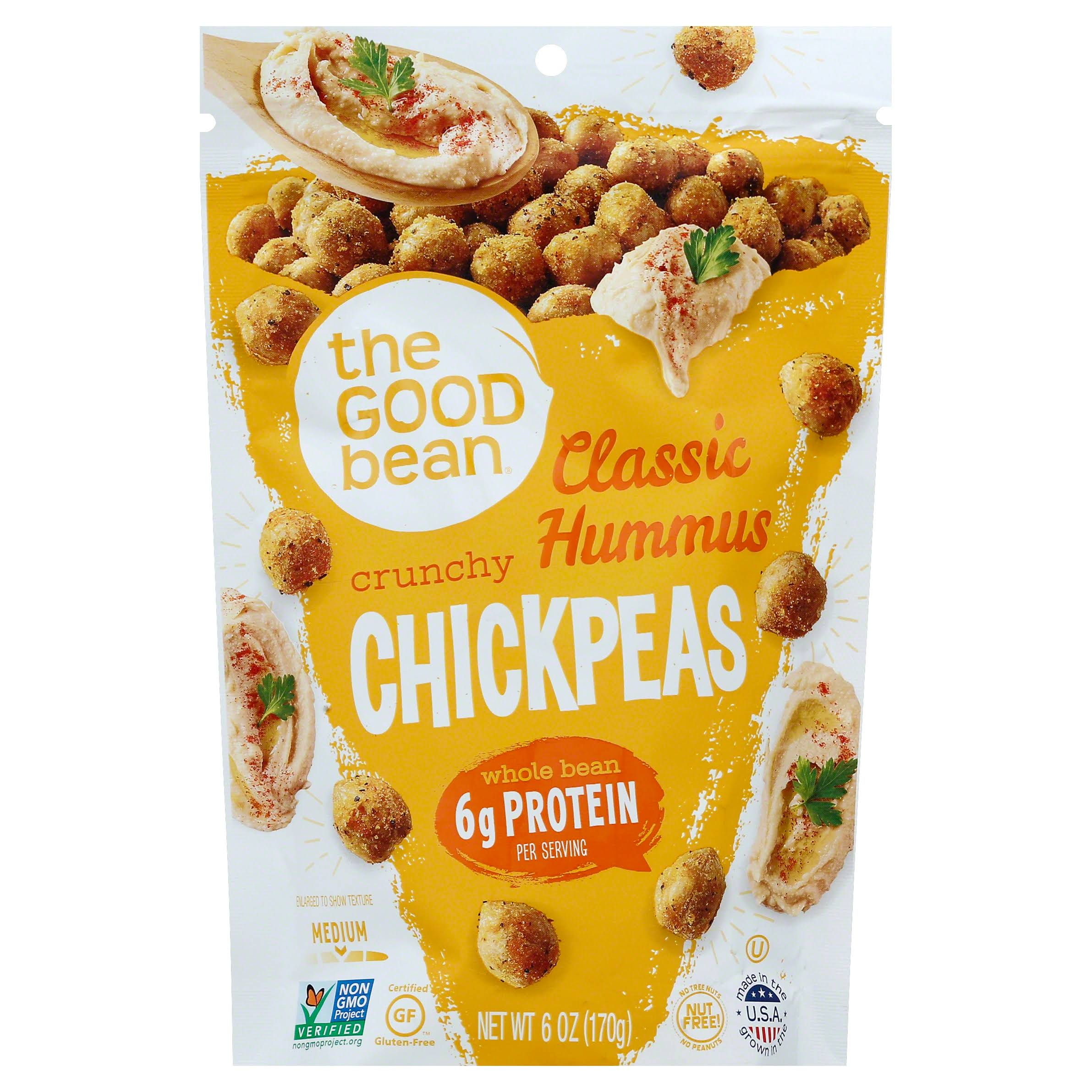 Good Bean Chickpeas, Classic Hummus, Crunchy, Medium - 6 oz