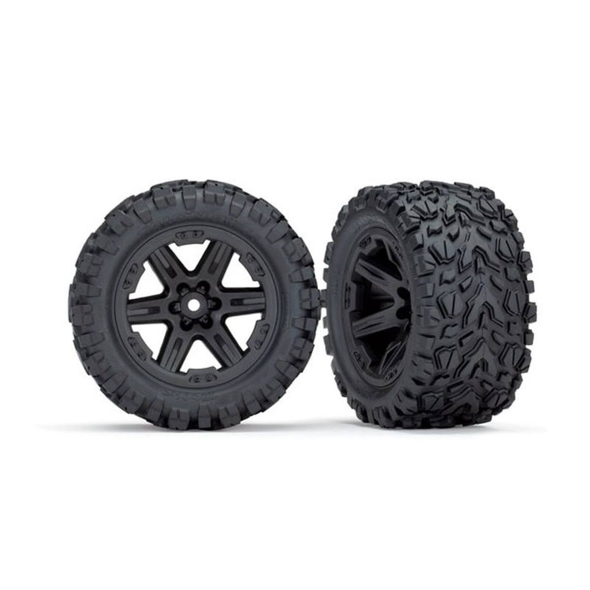 "Traxxas TRA6774 Rustler 4x4 Rear Mounted 2.8"" Tires & Wheels"