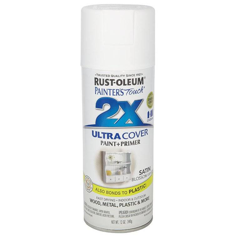 Rust-Oleum Painter's Touch Spray Paint - 12 oz, Satin Blossom White