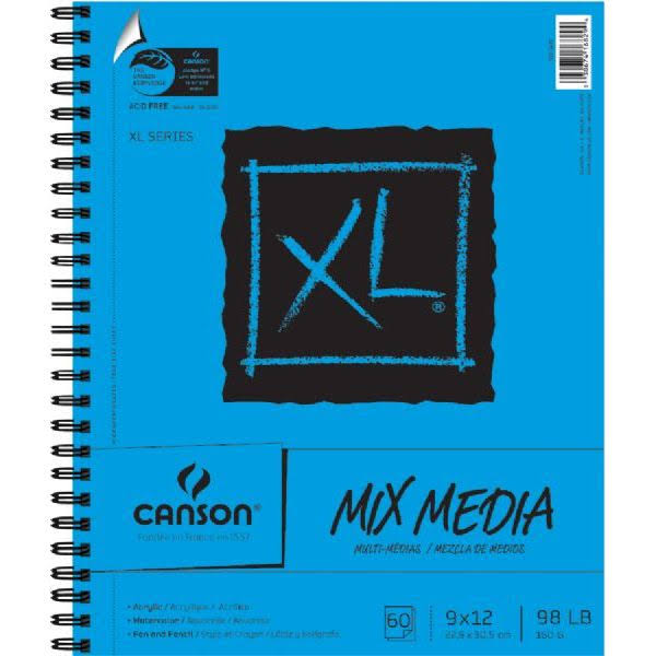 Canson Mix Media Pad - 9 x 12, 60 sheets