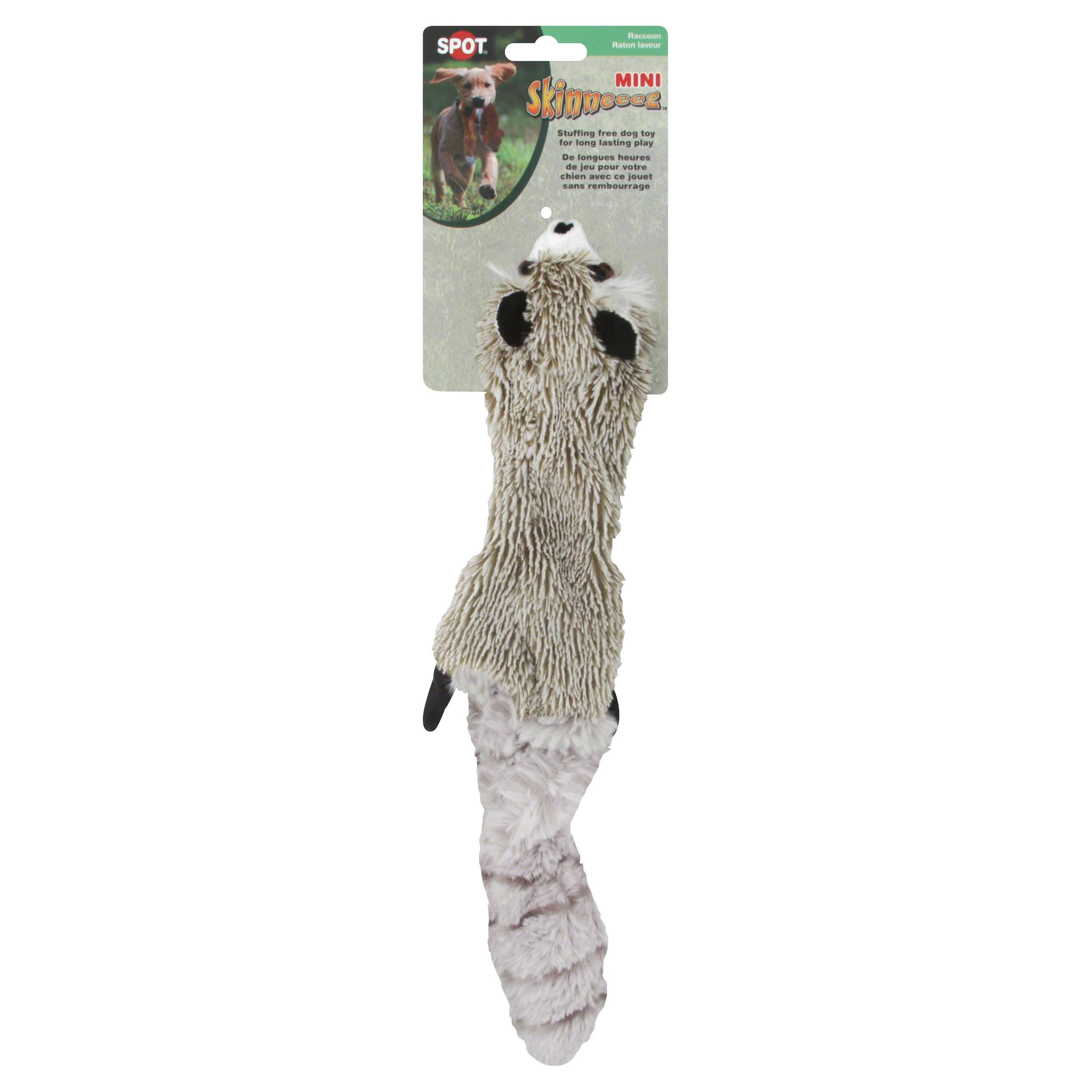 Ethical Pet Products Mini Skinneeez Raccoon Stuffingless Dog Toy