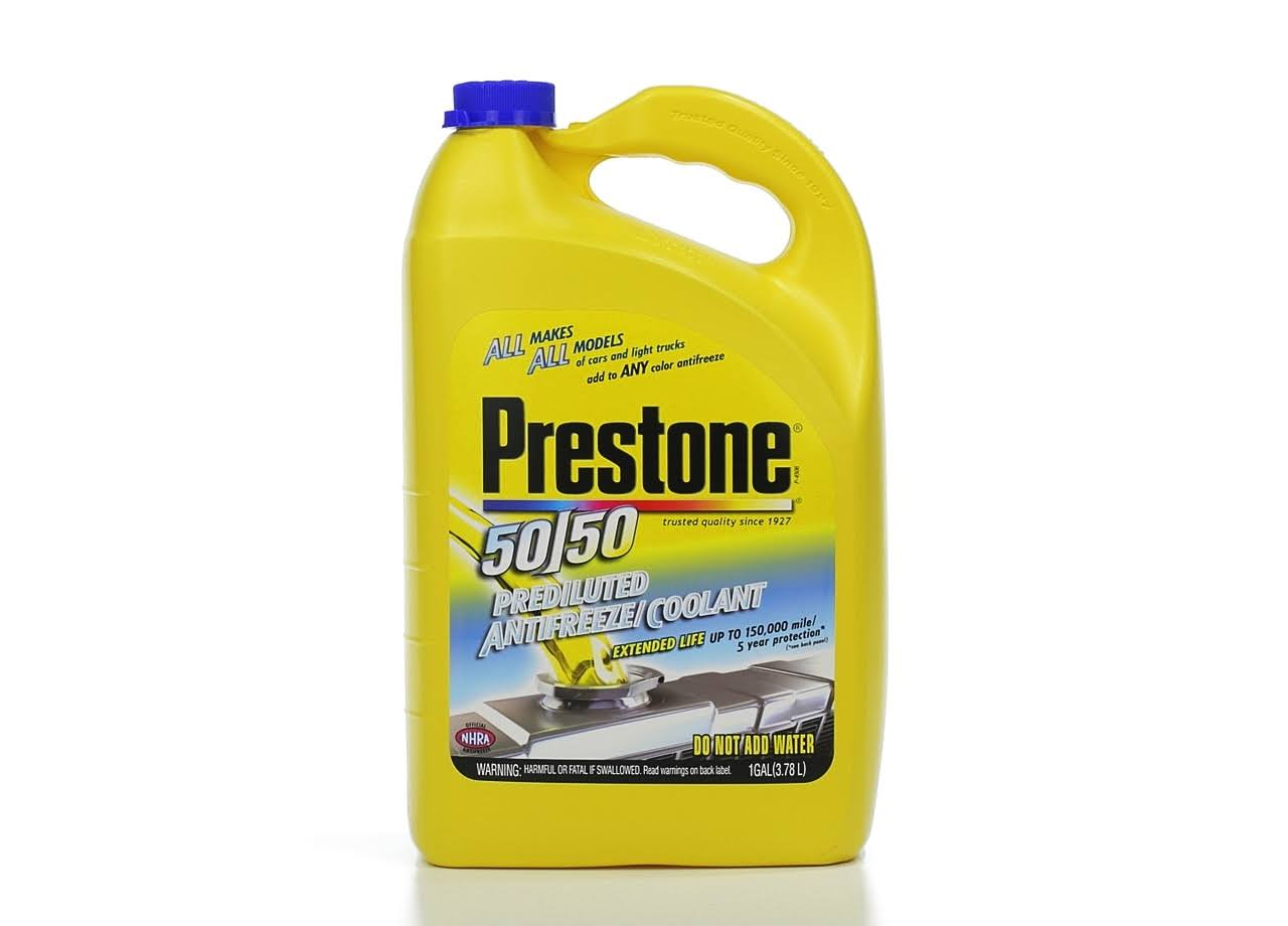 Prestone Extended Life Prediluted Antifreeze Coolant - 1 Gallon