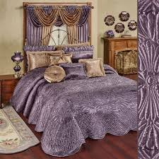Lavender And Grey Bedding by Victorian Bedding Touch Of Class