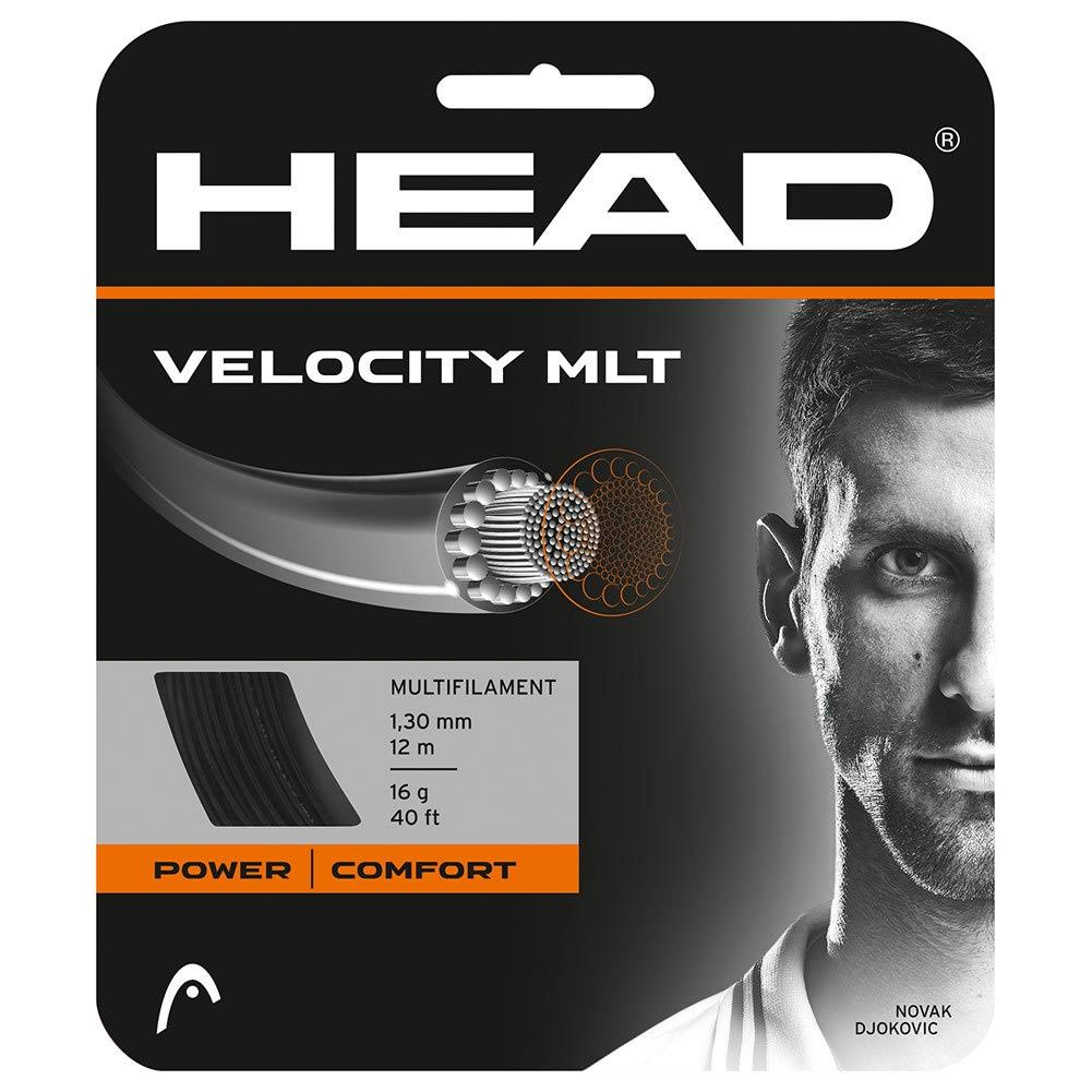 Head Velocity MLT Tennis String - 16 Gauge, Black, 40'