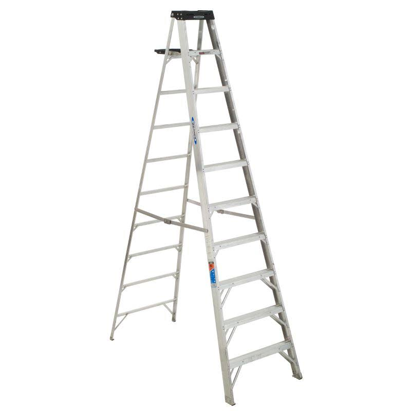 Werner Aluminum Step Ladder - 300lb Load Capacity, 10'