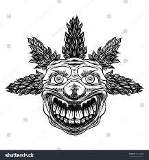 Evil Clown Pumpkin Stencils by Evil Scary Clown Monster Big Nose Stock Vector 719130562