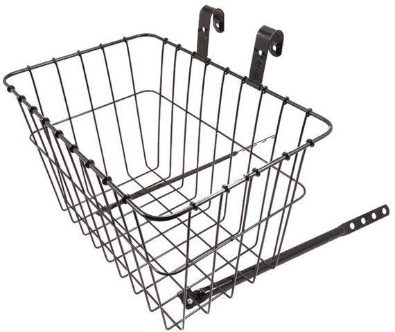 Wald Front Grocery Bicycle Basket - Black
