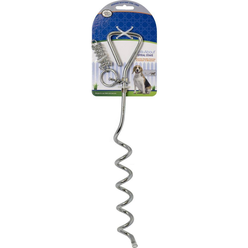 Four Paws Walk-About Spiral Tie-Out Stake