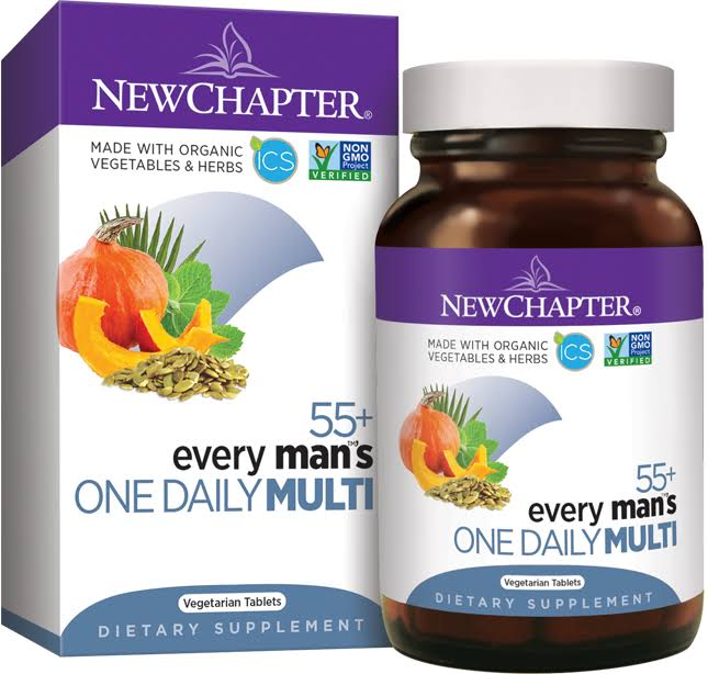 New Chapter Every Man's 55+ One Daily Mutivitamin - 24 Vegetarian Tablets