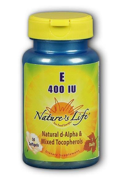 Natures Life Vitamin E Dietary Supplement - 400iu, 50ct