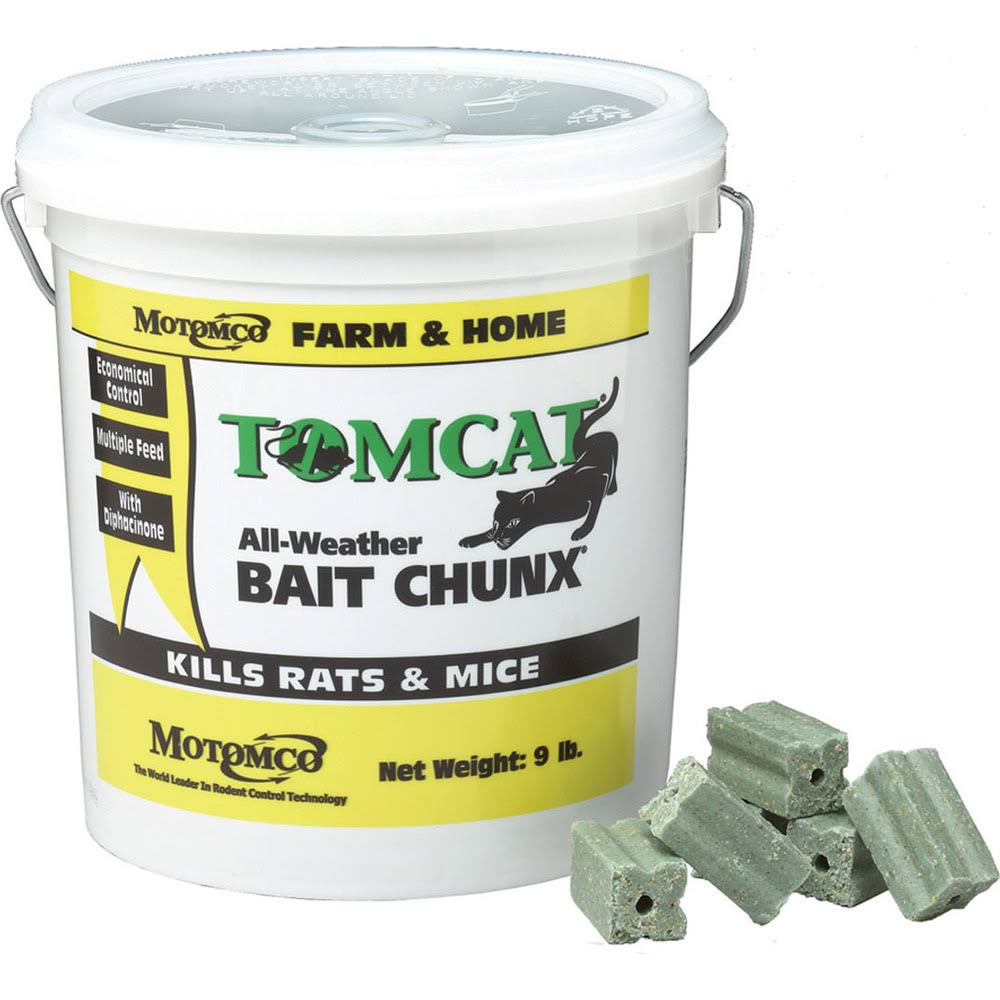 Motomco Tomcat All Weather Bait Chunx - 9lbs