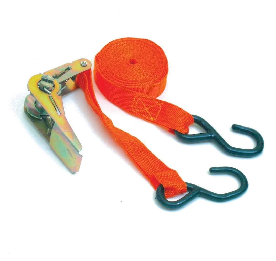 "Hilka 84100015 Ratchet Tie Downs 1"" x 15ft 1000lb Capacity"