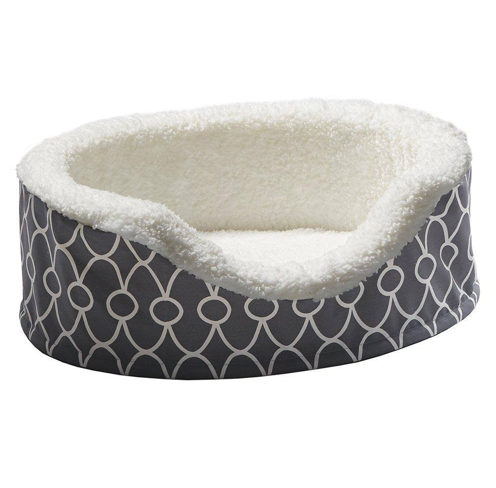 Midwest Quiet Time Teflon Ortho Nesting Dog Bed - Gray, X-Small