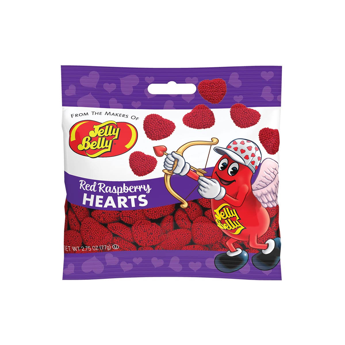 Jelly Belly Candy, Red Raspberry, Hearts