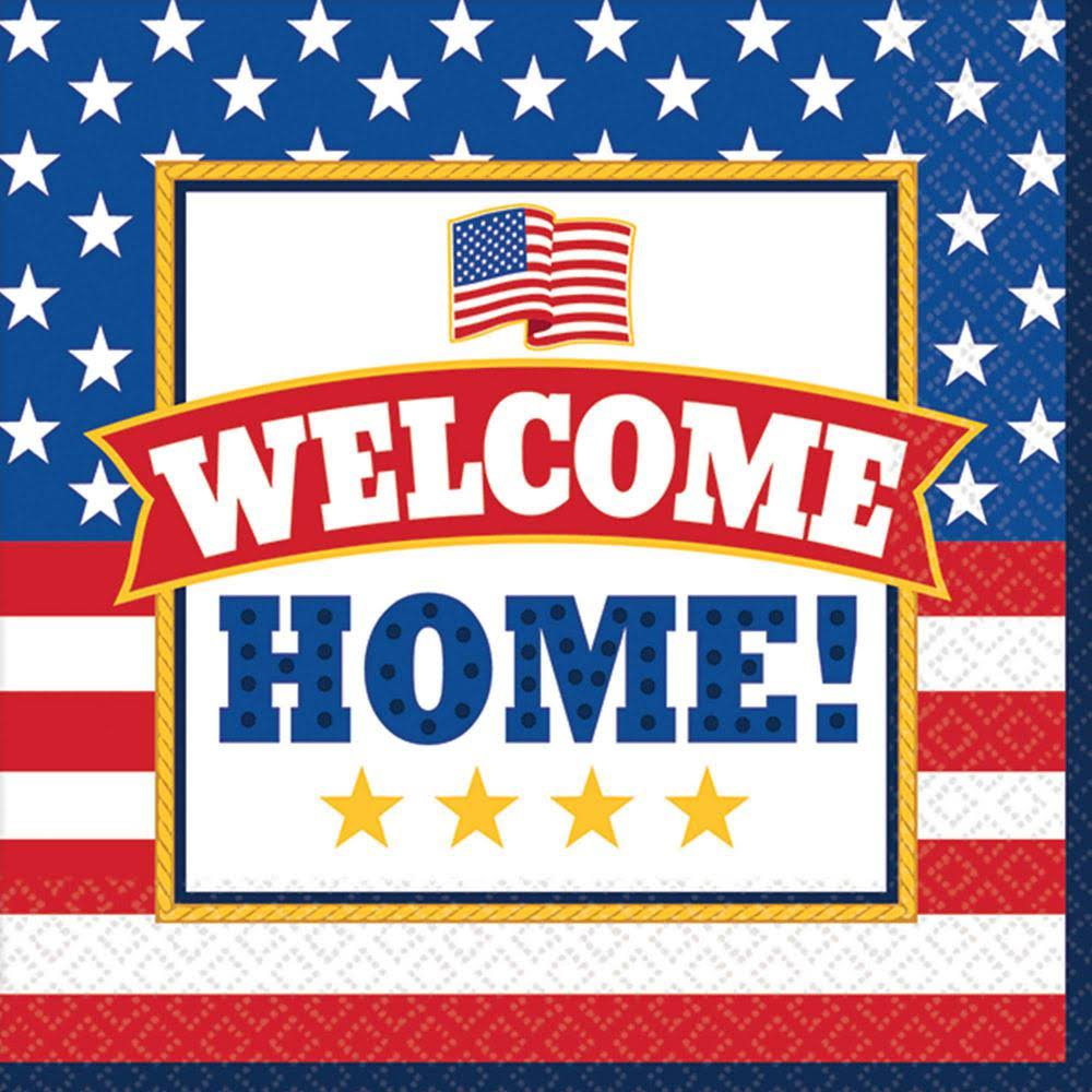 "Amscan Welcome Home Beverage Napkins - 36ct, 5""x5"""