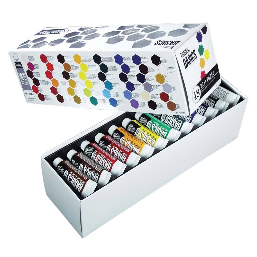 Liquitex Basics Acrylic Color Set - 48 Tubes, 22ml