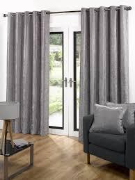 Modern Curtains For Living Room Uk by Living Room Velvet Ready Made Eyelet Curtains Grey With Velvet