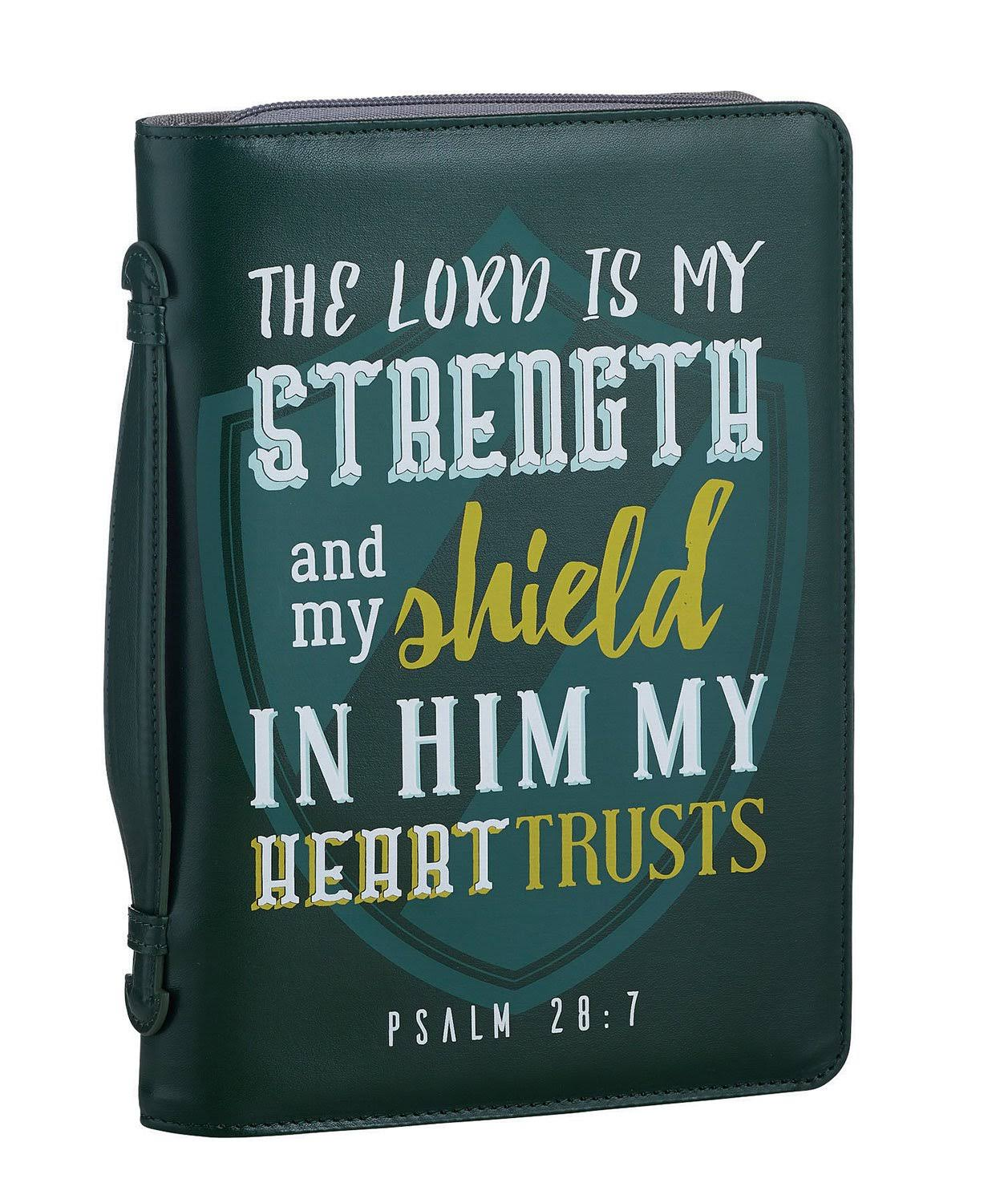 Faithworks Canvas Bible Book Cover, The Lord Is My Strength