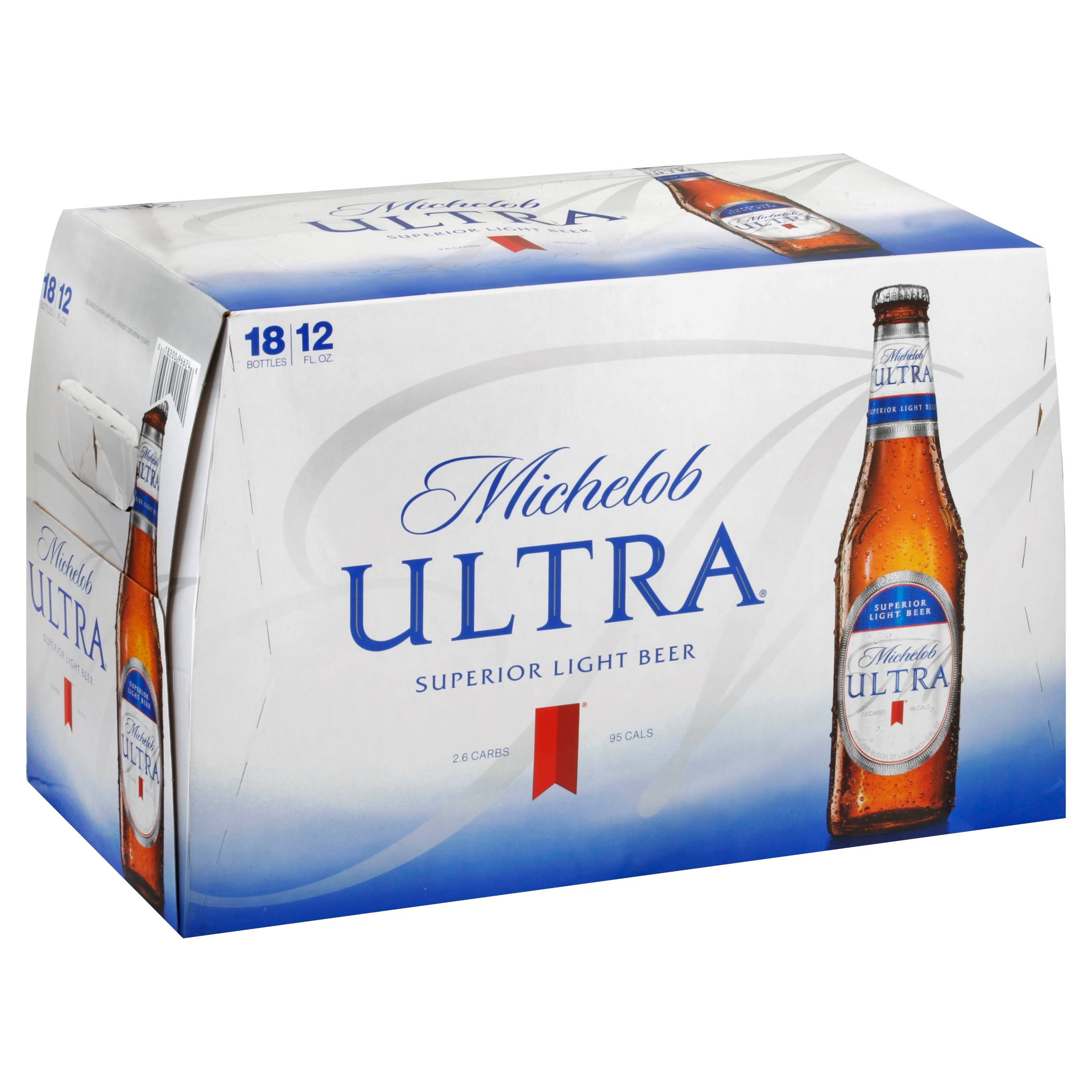 Michelob Ultra Superior Light Beer - 18 Bottles
