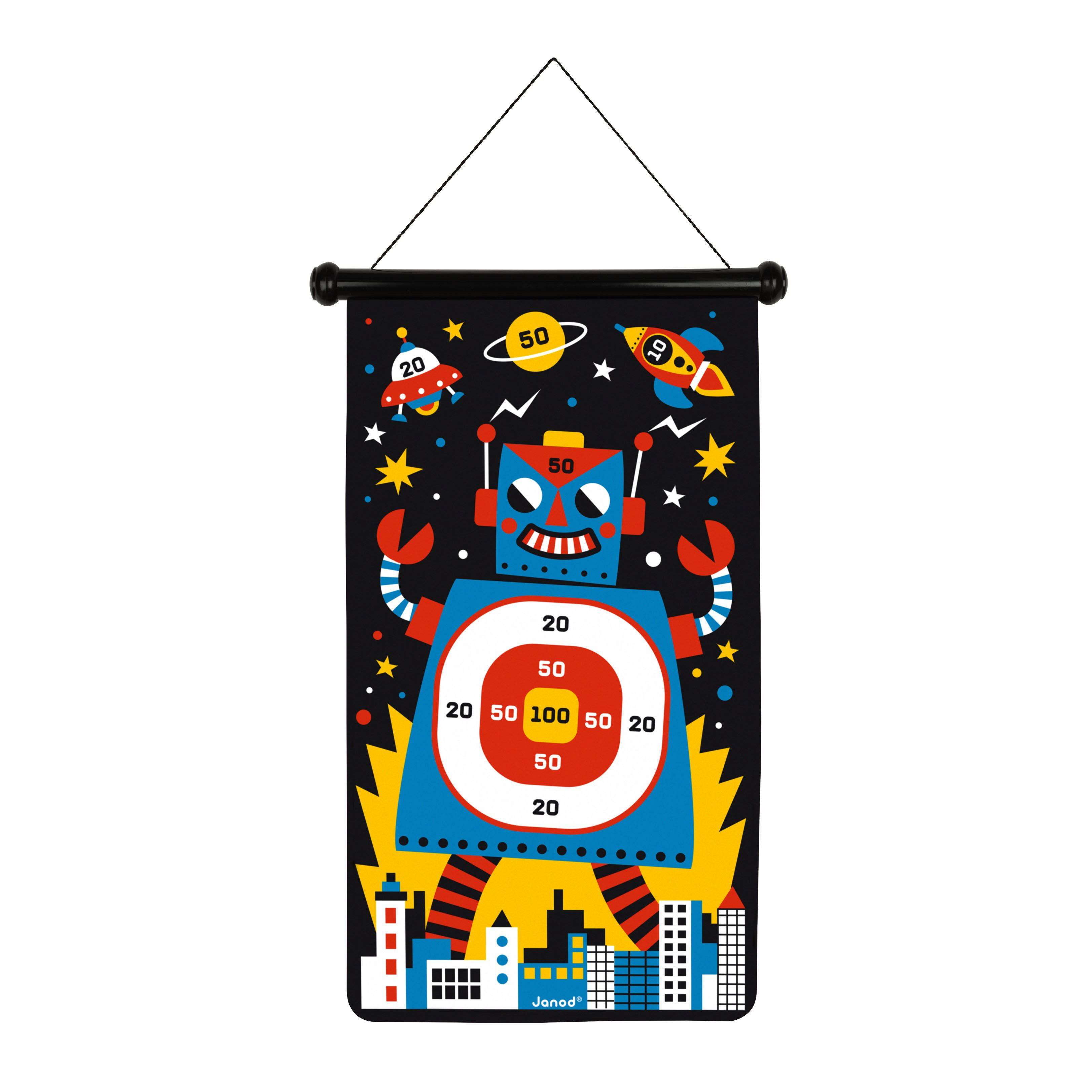 Janod Double-Sided Robots Magnetic Darts Game