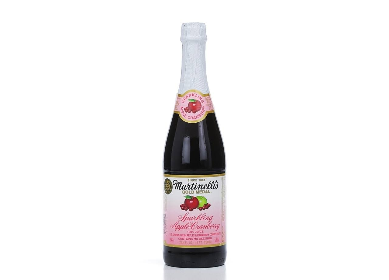 Martinelli's Gold Medal Sparkling Juice - Apple-Cranberry, 25.4oz