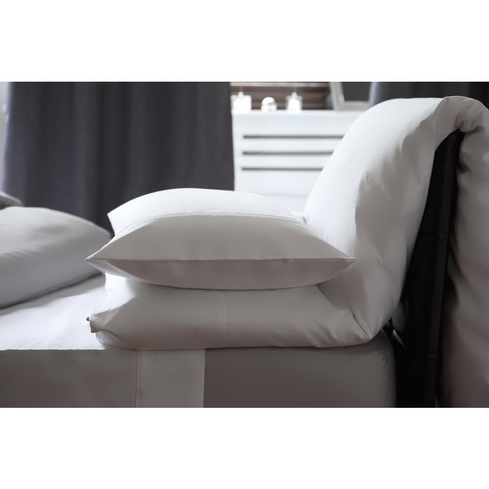 Belledorm 500 Thread Count Flat Sheet, White / King