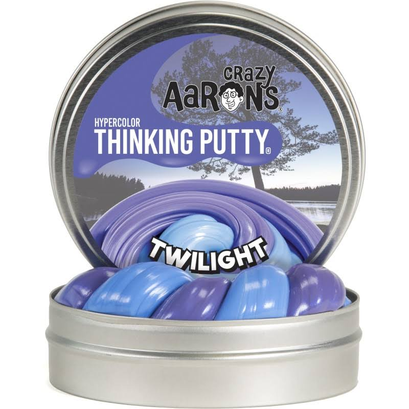 Crazy Aaron's Thinking Putty Heat Sensitive Hypercolor - Twilight, 3.2oz