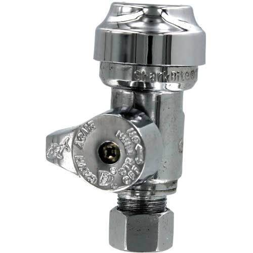 SharkBite Low Lead Straight Stop Brass Push Valve