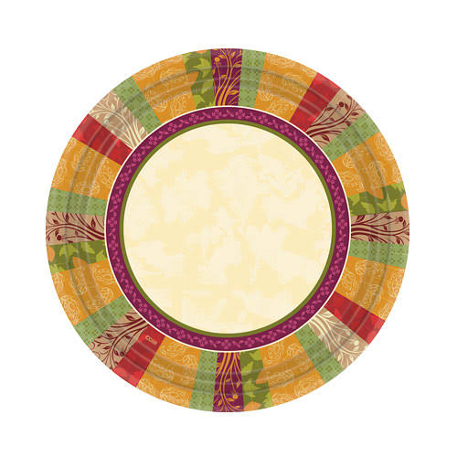 "Hanna K. Signature 98574 Fall Expressions Plate - 7"", 36ct"