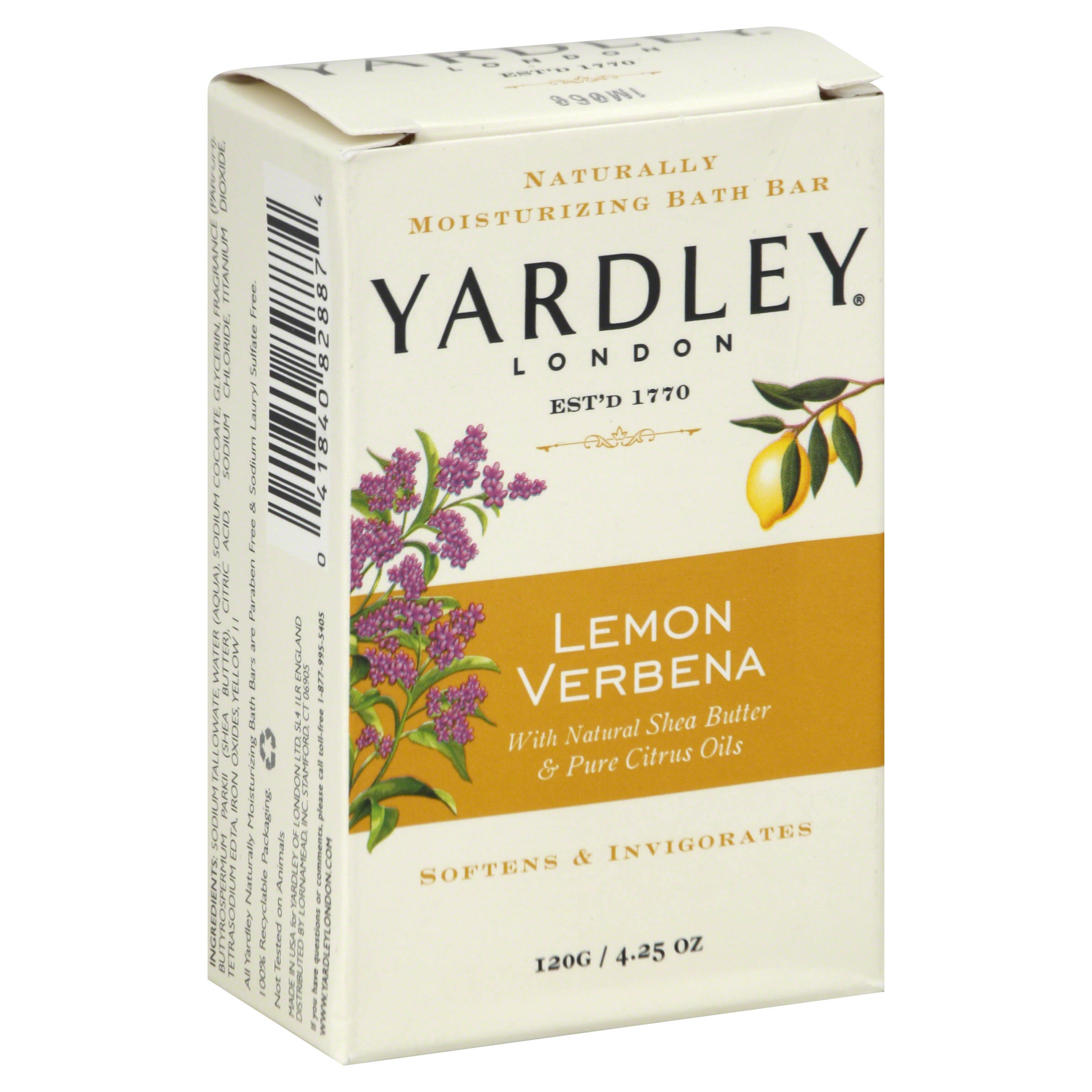 Yardley Lemon Verbena Bar Soap