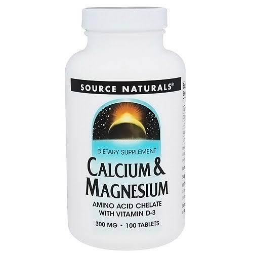 Source Naturals Calcium & Magnesium - 300mg, 100 Tablets