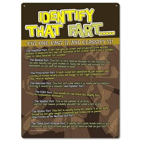 Poster Revolution Identify That Fart! Cut One, Cast It and Classify It! Tin Sign 8 x 12in