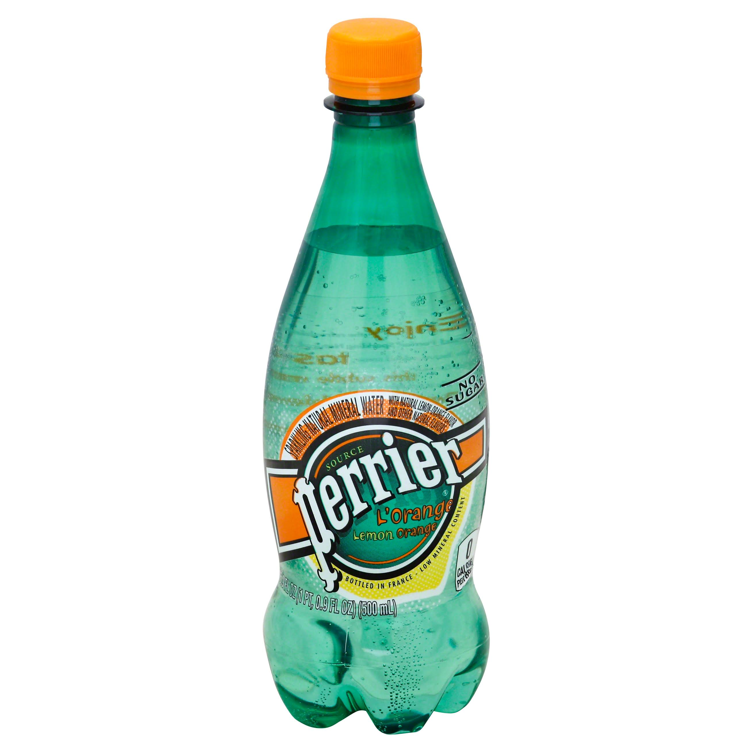 Perrier Sparkling Natural Mineral Water Bottle - Orange, 1.8oz