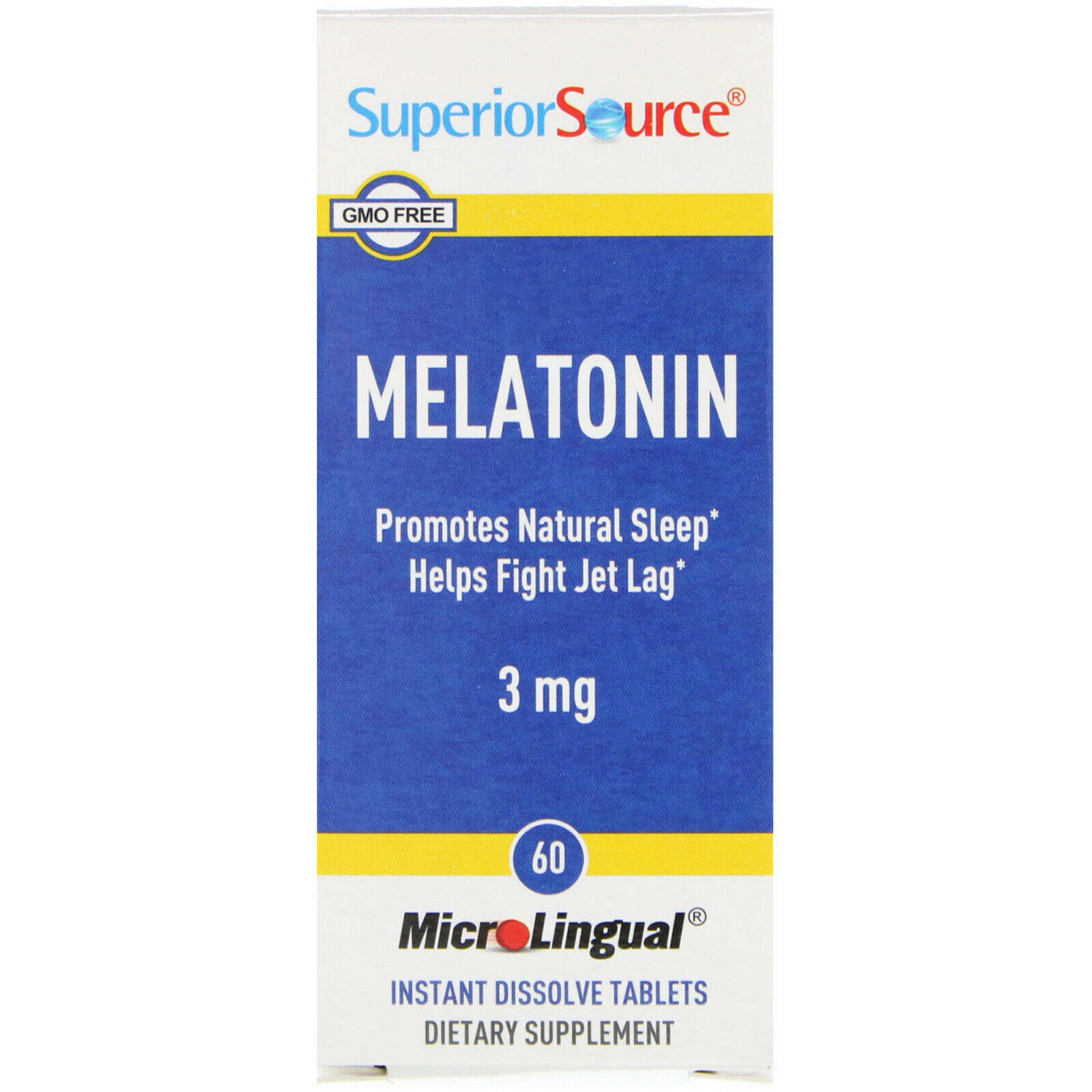 Superior Source Melatonin Supplement - 3mg, 60 Tablets