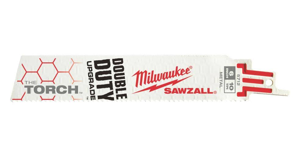 Milwaukee 48-00-5712 6 In. 10 TPI the Torch SAWZALL Blade (5 Pk)
