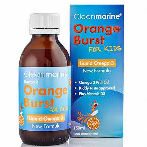 Cleanmarine - Orange Burst for Kids Liquid Omega 3 150ml