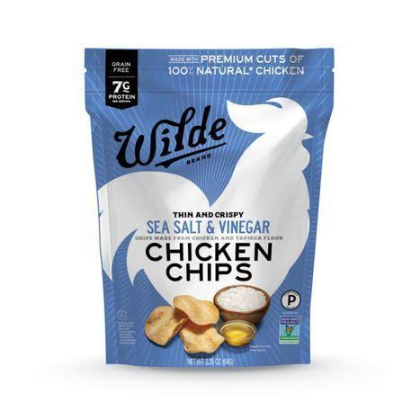 Wilde Chicken Chips - Sea Salt & Vinegar, 2.25oz