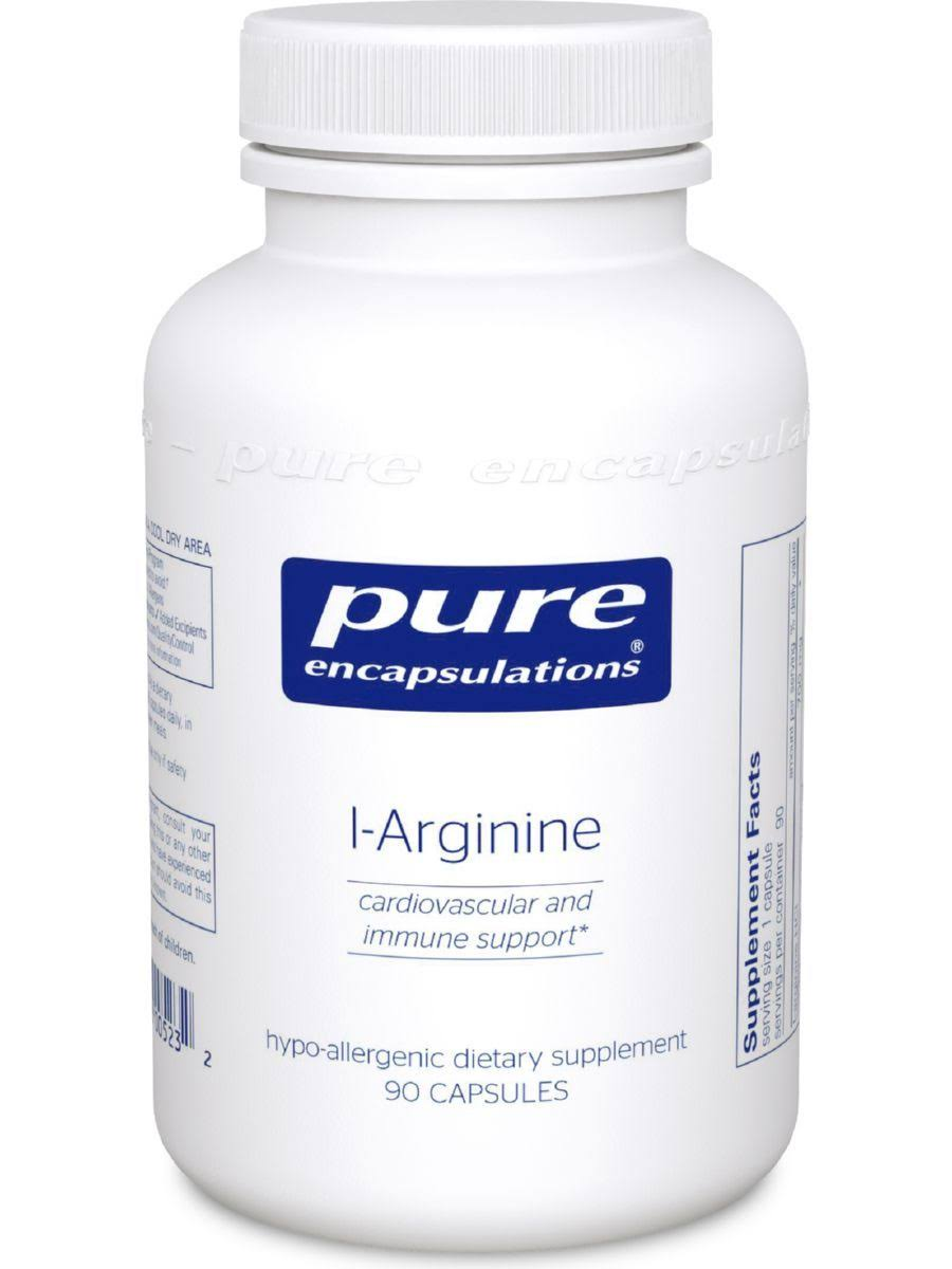 Pure Encapsulations L-Arginine Supplement - 90 Capsules